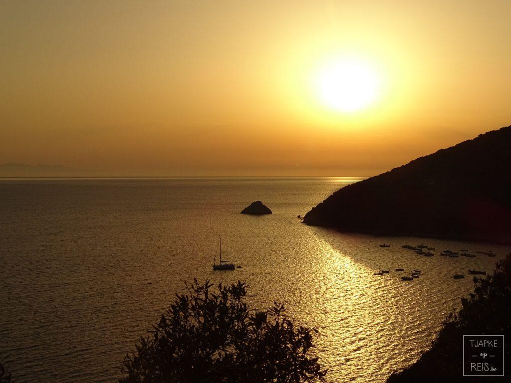 Zonsondergang Elba