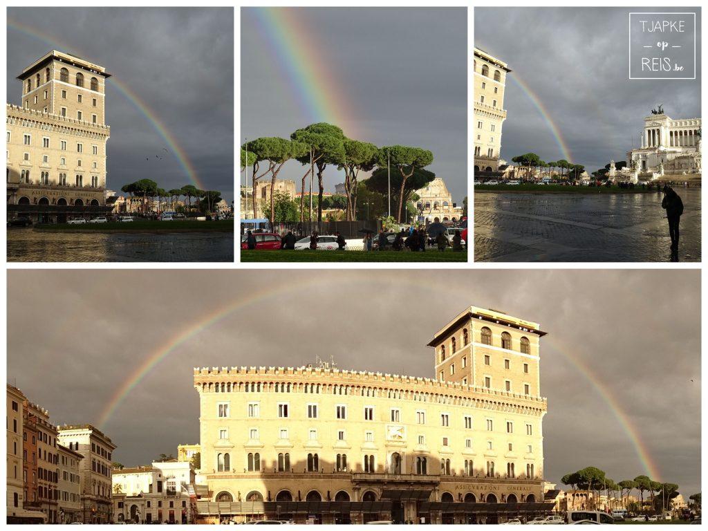Regenboog Piazza Venezia