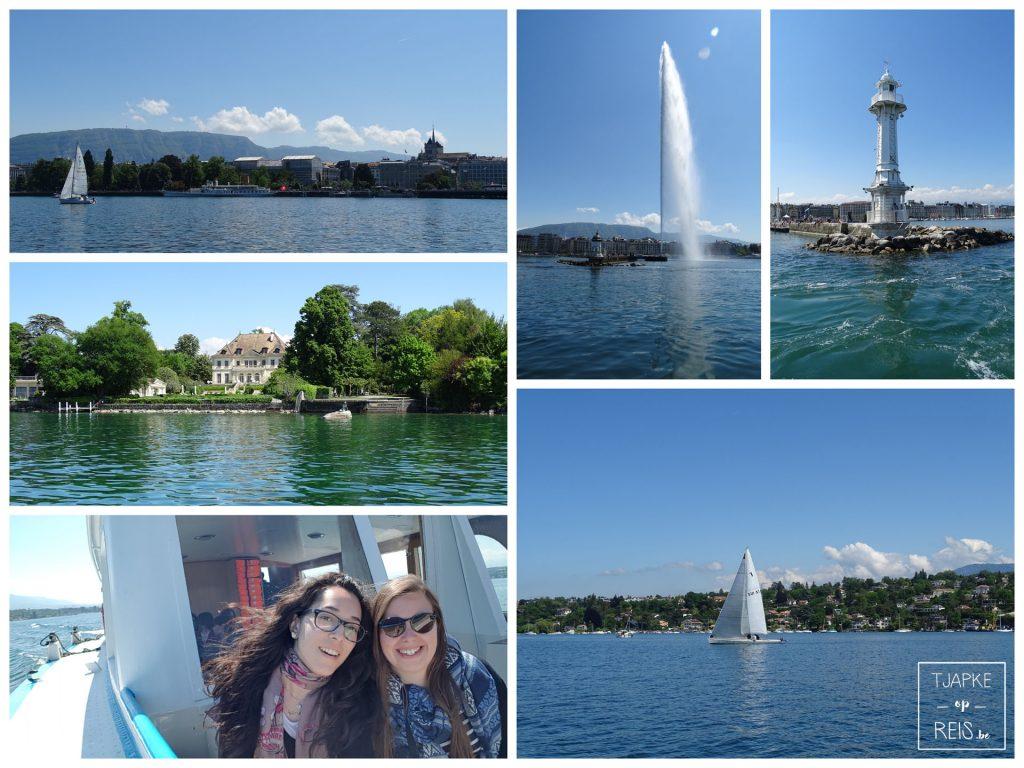 Meer van Genève en Jet d'eau