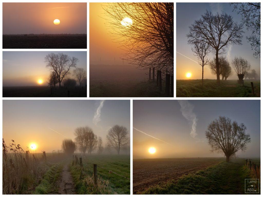 zonsopgang in de mist
